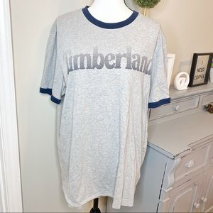 Timberland Logo Front Boarder Short Sleeve Top